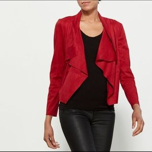 Shinestar Burgandy Faux Suede Jacket